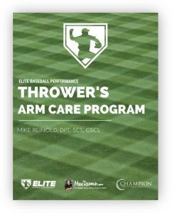 EBP Reinold Throwers Arm Care Program