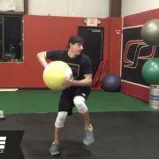 Knee-to-Knee Rotational Med Ball Shotput