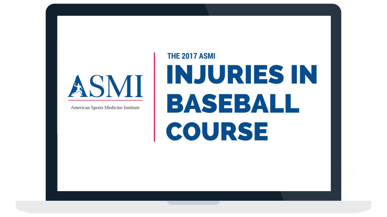 ASMI Injuries in Baseball Course